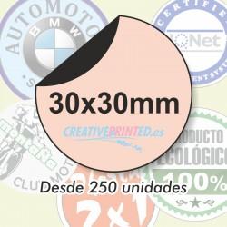 Adhesivos Circulares 30mm