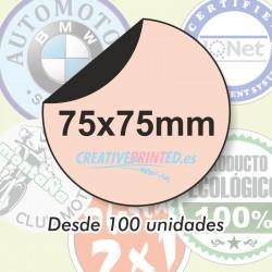 Adhesivos Circulares 75mm