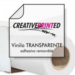 Vinilo Transparente Brillo 100µ Removible