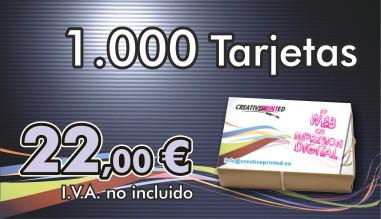 1000 Tarjetas 22 euros